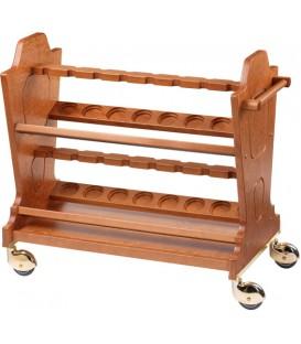 Carrello cantinetta per vini in legno mod CL2580