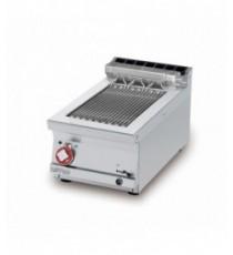 GRIGLIA CONTACT - cottura diretta su resistenza in acciaio inox cm. 27x43 ribaltabile