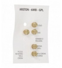 INIETTORI GPL 6MB ARISTON KIT 5 PZ