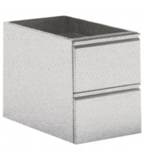 Cassettiere 2 cassetti GN 1/1 profondità 740mm