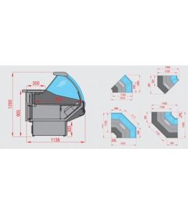 Espositore refrigerato orizzontale ventilato mod PANAREA