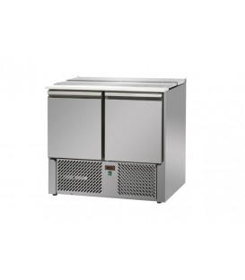 Saladette 2 porte con coperchio in acciaio inox mod SL02EKO