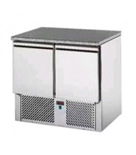 Saladette 2 porte con 2 cassettiere con piano in granito mod SL02GR/C2SLDX/C2SLSX