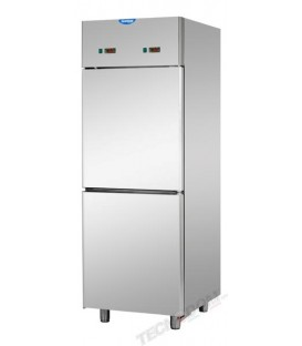 Armadio combinato refrigerato GN2/1 acciaio inox a doppia temperatura (temp. normale + bassa temp.) con 2 sportelli mod A207EKOP