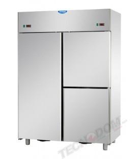 Armadio combinato refrigerato GN2/1 acciaio inox (temp.normale + bassa temp.) 1 porta e 2 sportelli mod A314EKOPN