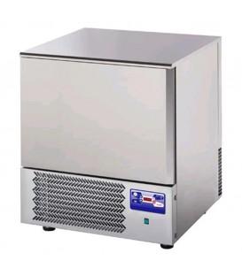 Abbattitore di temperatura per 5 teglie GN1/1 o 60x40 in acciaio inox predisposto per unità frigorifera remota mod AT05ISOSG